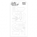 THS025 Stampers Anonymous Tim Holtz Layering Stencil - Arrows